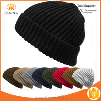 THICK Ribbed Beanie Knit Ski Cap Skull Hat Warm Solid Color Winter Cuff beanie