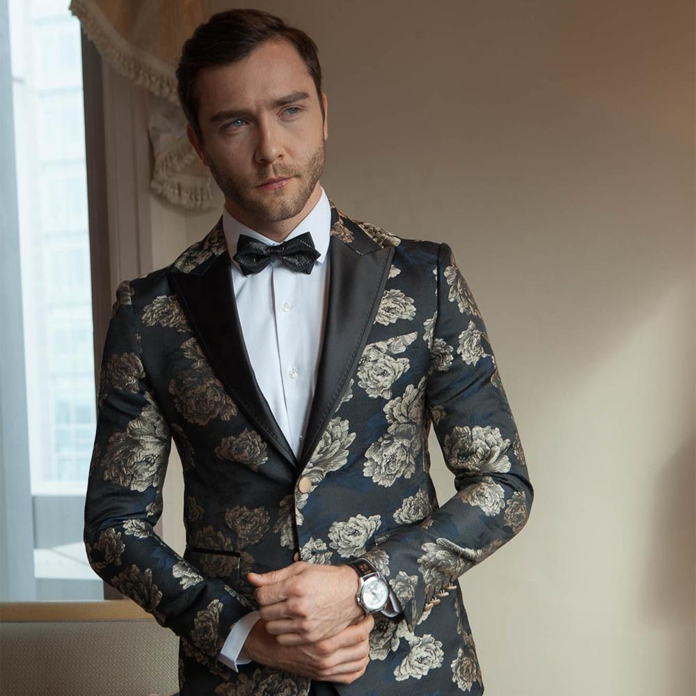Alibaba.com / Blazer mens custom tailor suits jacquard suite for men