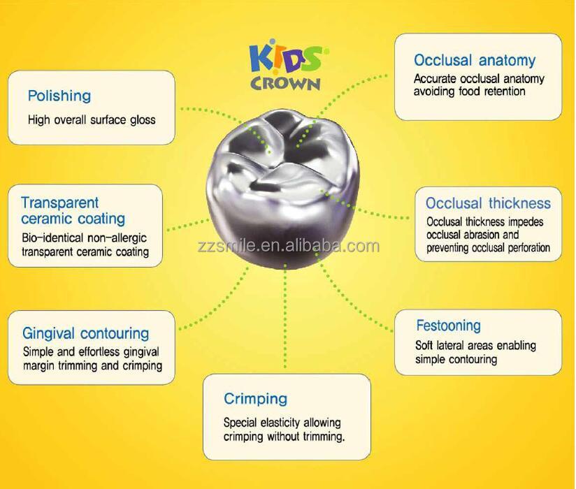 Korea Stainless Steel Crowns /primary Molar Crowns - Buy Korea ...