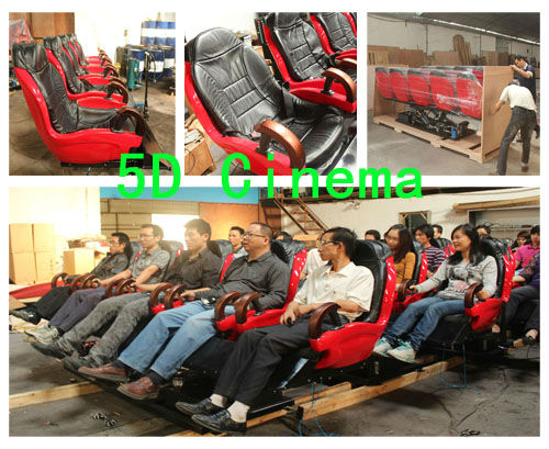 Woo!! 6dof motion platform 5d motion theater cinema seat/Entertaining and simulating 5D cienma whole set equipment for sa