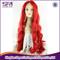 Paypal TT Free Shipping Full lace colorful synthetic hair wig for ladies