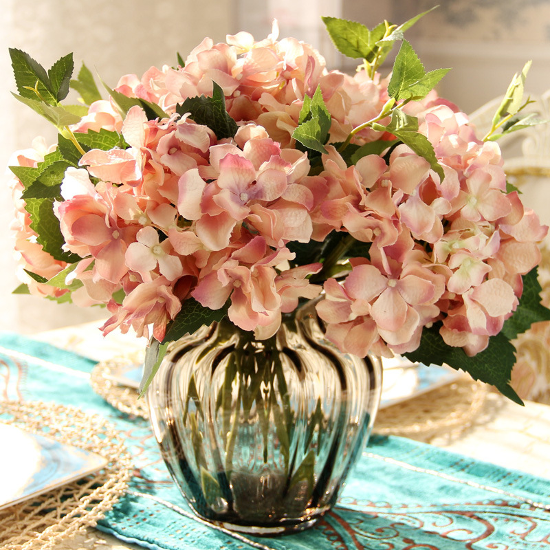 10pcs Romantic French European Artificial Silk Hydrangea Flower Bouquet Decorative Flowers & Wreaths Home Party Wedding Decor
