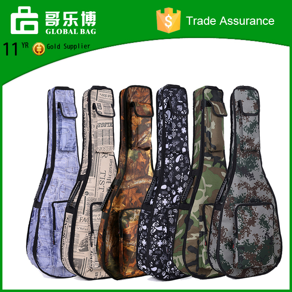 Jean camouflage guitar bag retro style guitar ukulele backapck