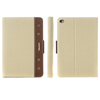 retro leather with canvas tablet flip case for ipad mini 4 folio