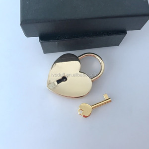 Wholesale Big Gold Heart Shaped Padlock and Key for Lover