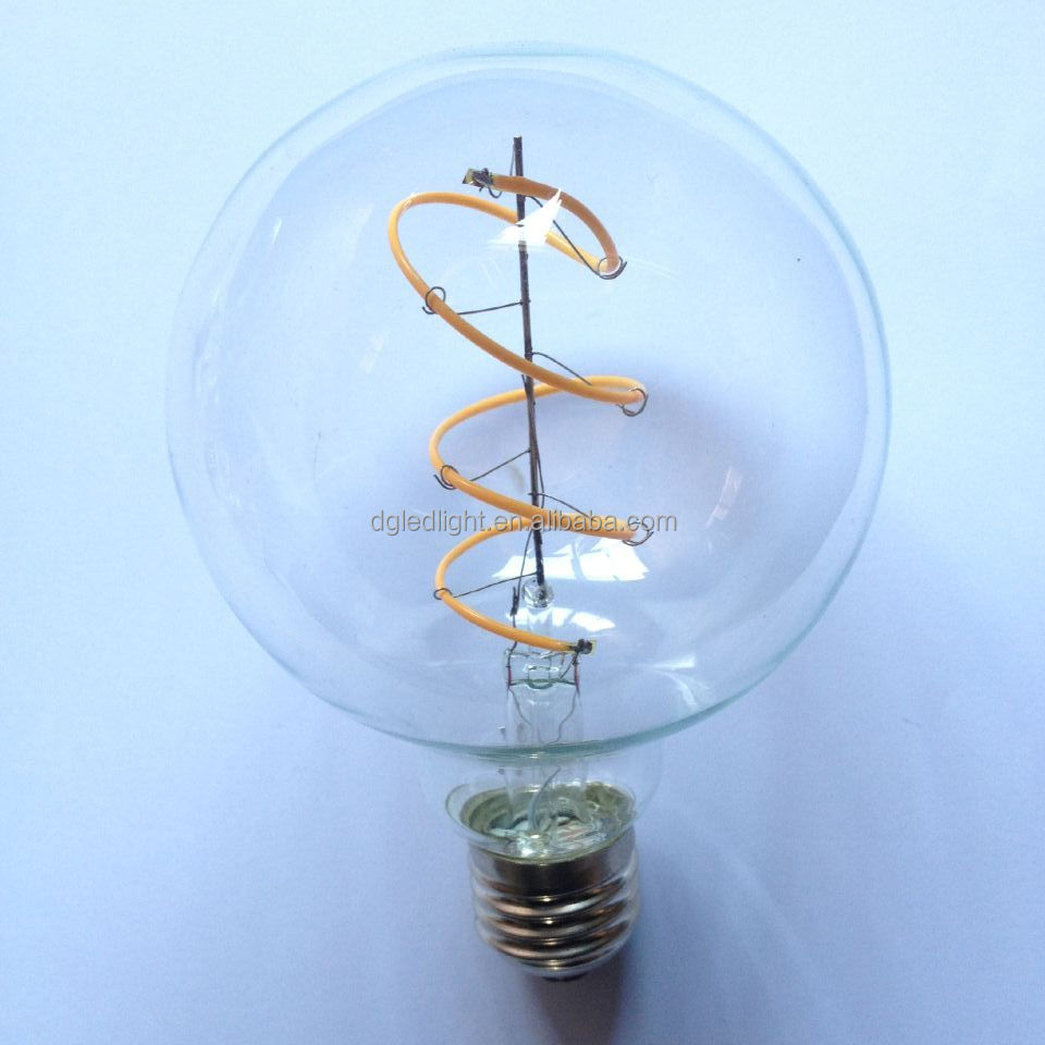 ETL approved LED filament lights lamp Edison bulbs for E26 120VAC warm white