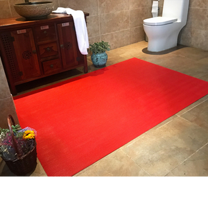 factory price pvc anti slip toilet mat with S shape