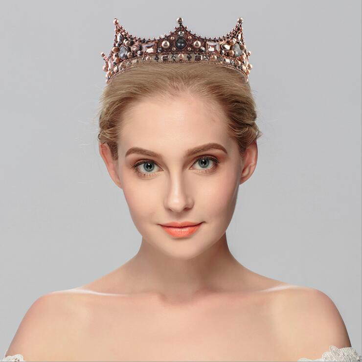 New style miss world crown wedding tiara crown pageant bridal hair accessory