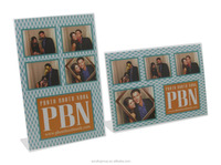 Manufacturer custom clear 4x6 acrylic photo booth frames with stand