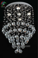 chandelier/ modern crystal ceiling/ chrome lighting fixture clear crystal