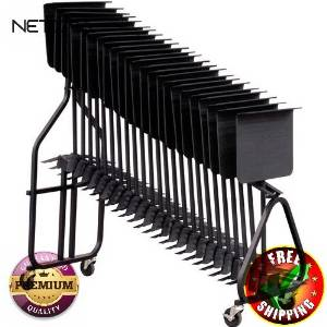 KB100 Symphonic Music Stand Storage Cart With Free 6 Feet NETCNA HDMI Cable - BY NETCNA