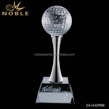 Noble Cheap Custom Crystal Golf Ball With Crystal Clear Base Trophy And Awards