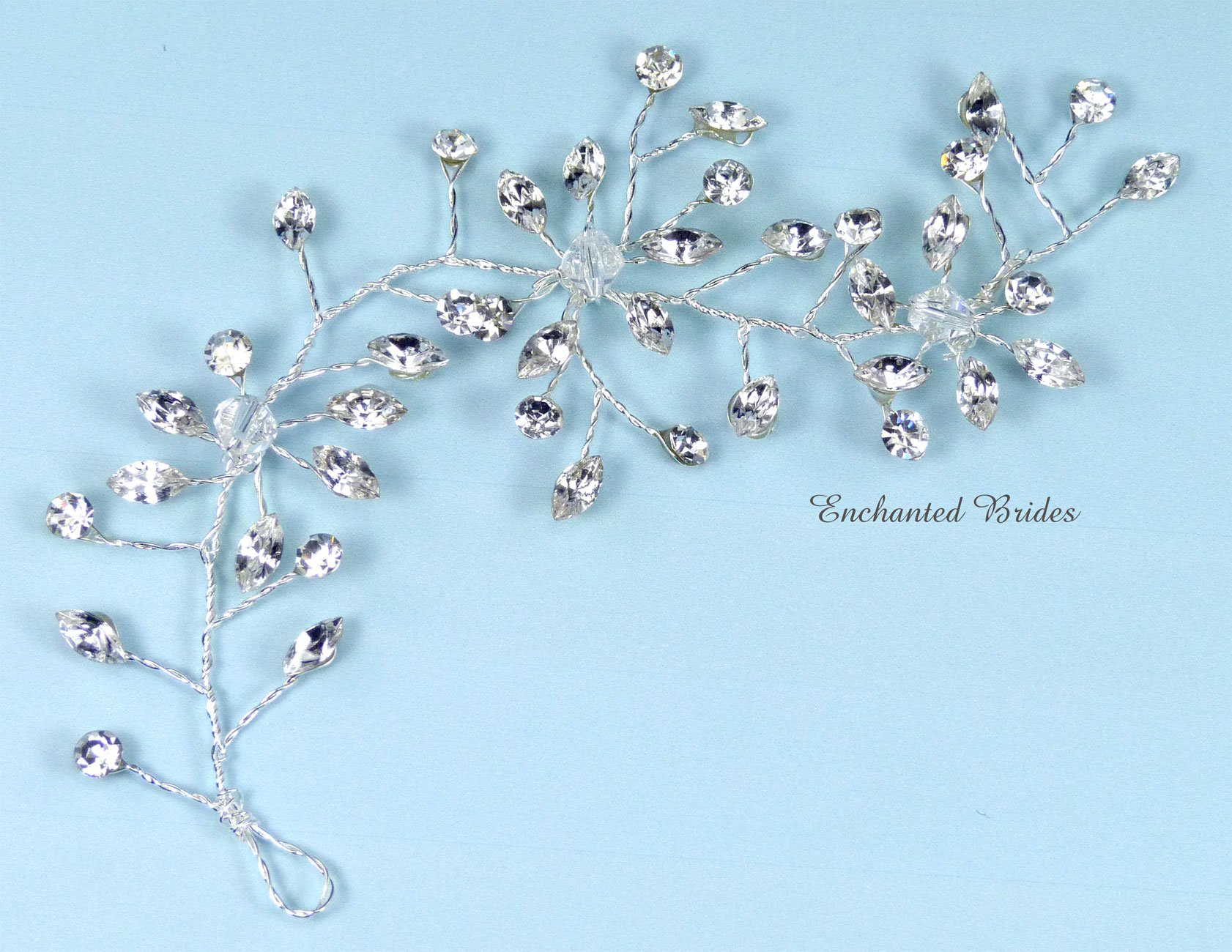 Buy Handcrafted Delicate Flexible Wire Headpiece of Sparkling ...