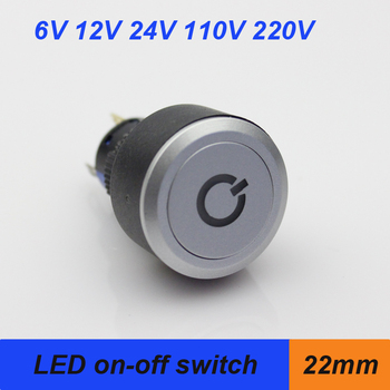 1622mm Ultrathin Head Push Button Switch Momentary On Off Led