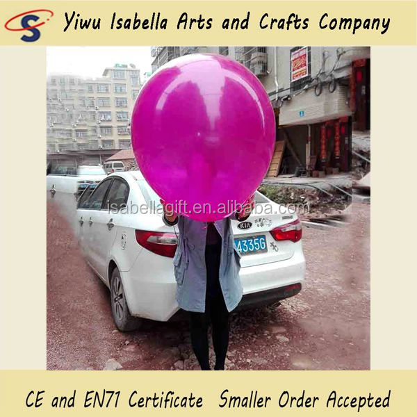 Yiwu Balloon Factory Rubber Latex Free Wedding Party Decorations Colored 36 inch Super Large Round Latex Balloons