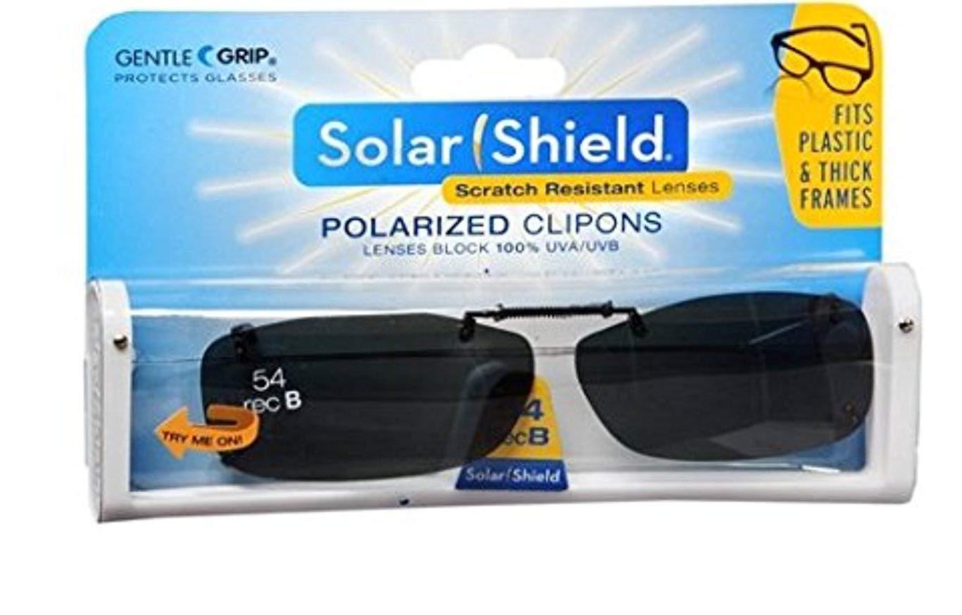 b8d1b8af03 Get Quotations · Solar Shield Fits Over Rimless Clip-On Sunglasses REC B 54  BLACK GRAY