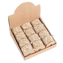 Горячие 12 рулонов/коробка ручной работы смешанные плетеные веревки для вечерние украшения свадьбы LSK99(Китай)