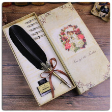 High quality Retail Gift Turkey Feather Fountain Pen