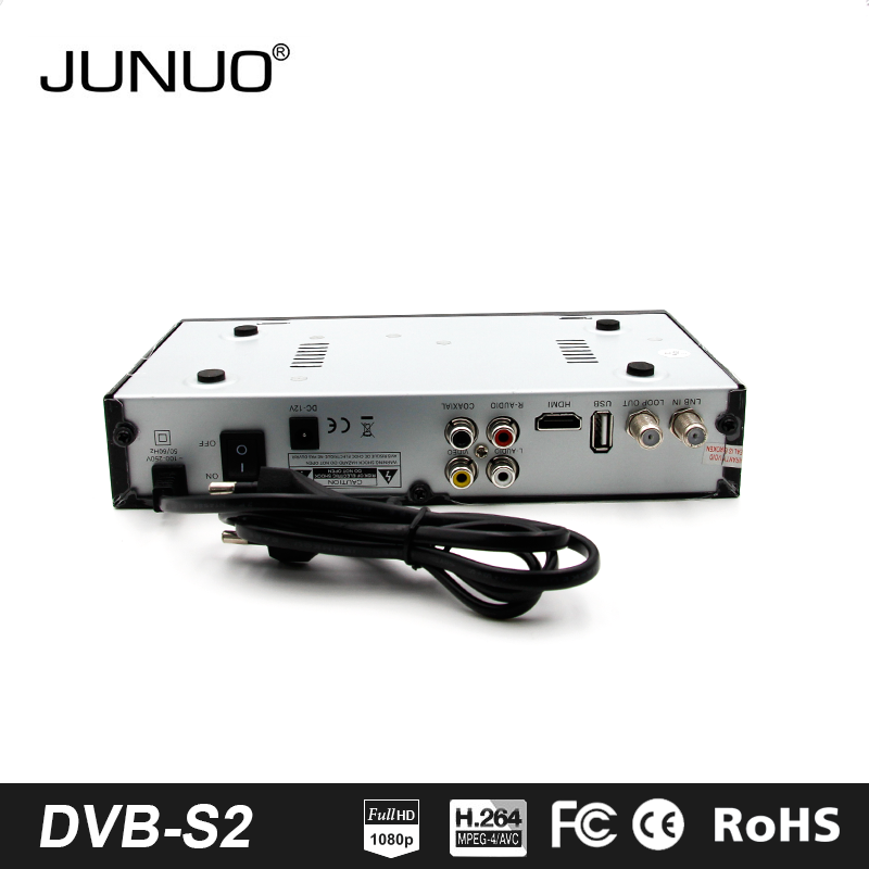 JUNUO china factory OEM mstar h.264 MPEG4 full HD free to air dvb s2 digital tv set top box