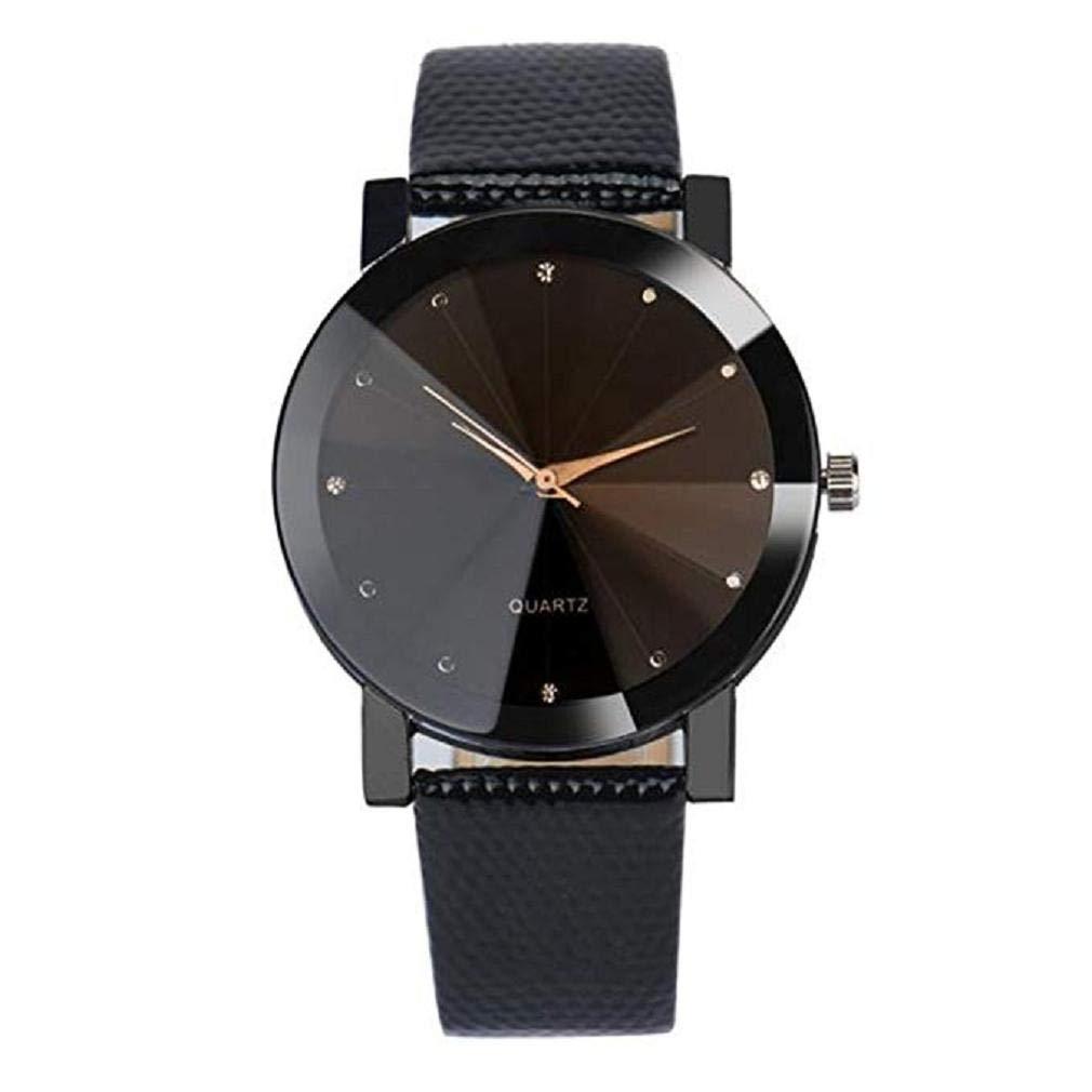 Women Quartz Watches,Windoson Quartz Watches Clearance Analog Ladies Watches Female Watches Leather Wrist Watches (Black)