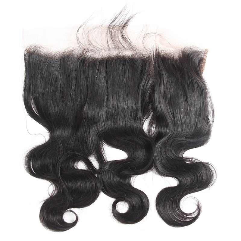 Hot Sale Unprocessed Brazilian Raw Virgin Remy 100% Human Hair Ear to Ear 13*4 Body Wave Cuticle Aligned Full Lace Closure
