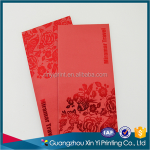 Custom printing paper material holiday red packets Thank you card money packet printing 2018 red packet printing