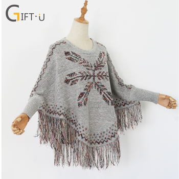 Wholesale Latest Design Winter Loose Fitting Women Ponchos Ladies