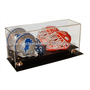 Acrylic Display Cases Acrylic Display Box Acrylic Display Stand Dual Football Helmets Wall Mount
