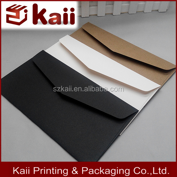 Print logo custom letter envelope in packaging manufacturer in Shenzhen