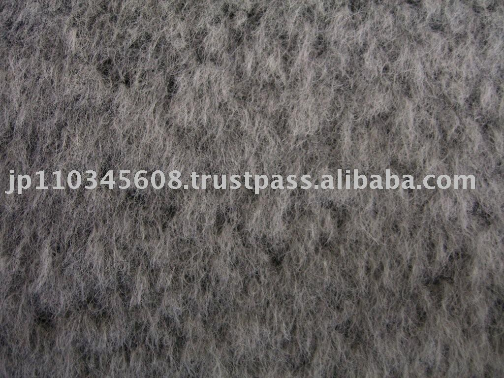 Alpaca Brushed Airy Fabric for ladies jackets.