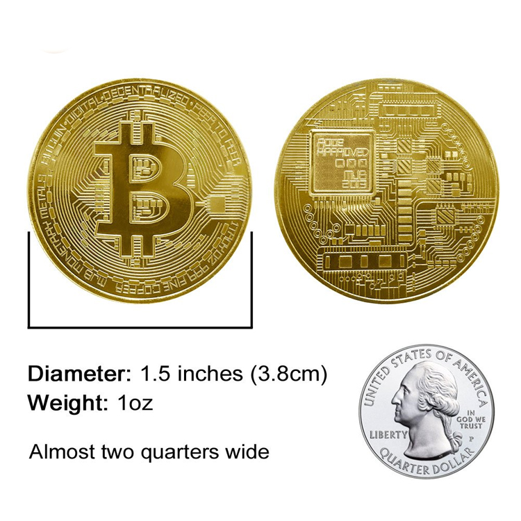 2019 New Design Recycled Gold Round Can Challenge Bitcoin Custom Metal Coins