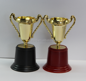 Wholesale Plastic Trophies Cups Promotional Cheap Small Trophy Awards Sport