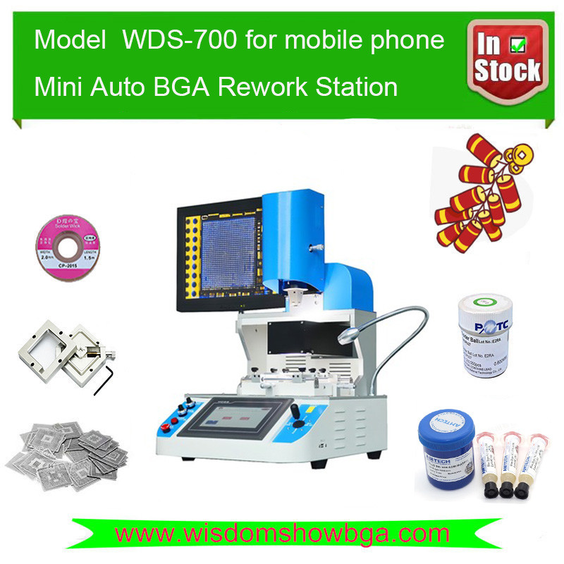 Top Technology 110V/220V bga stencil kit WDS-700 for motherboard samsung s7 edge iphone 7 xiaomi huawei