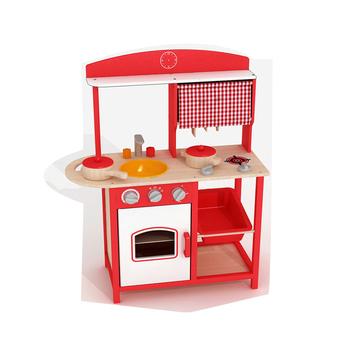 Kayu Dapur Mainan Berpura Pura Bermain Kitchen Set Anak Anak