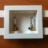 "washing machine box with 1/2"" BSP brass valves"
