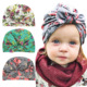 Baby Turban hat with bow Newborn Toddler cotton Infinity turban hat Infant Topknot beanie Cotton flower cap