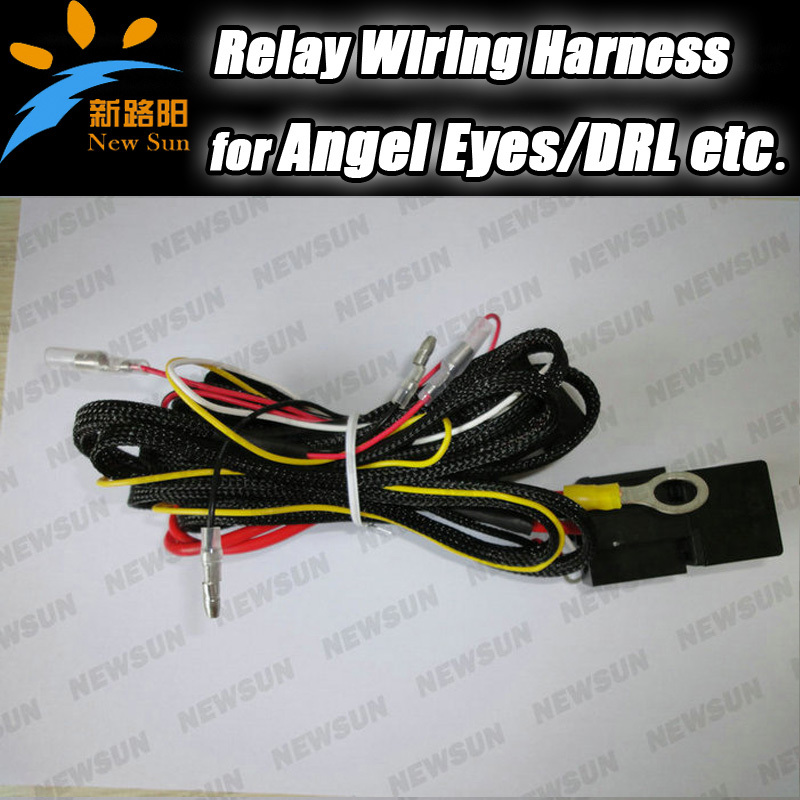 wire wiring harness fuse relay switch for smd angel eyes headlight wiring harness kit for bmw. Black Bedroom Furniture Sets. Home Design Ideas