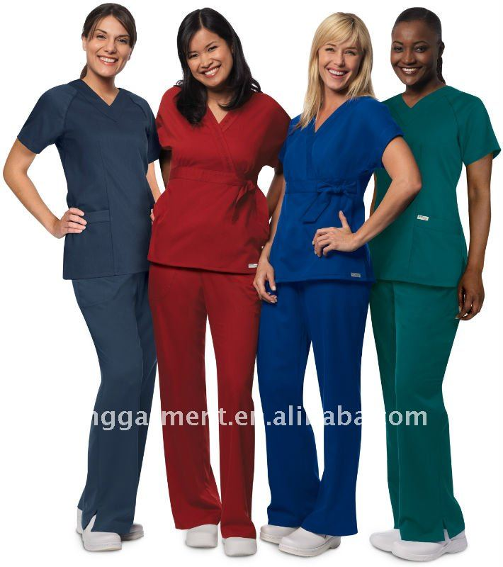 New Style V-Neck Medical Scrubs with Multiple Pockets