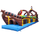 Inflatable Pirate Ship Obstacle Bouncer for kids