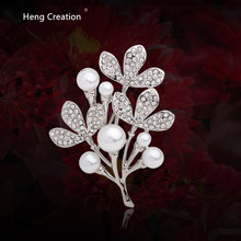 high quality tree leaves pin brooches