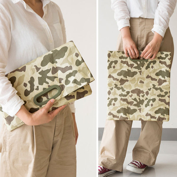 Camouflage Handle Purse Tyvek Clutch Bags