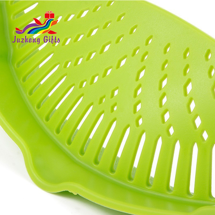 New Silicone Pan Strainer Creative Pan Strain Clip-on Pasta Food Draining For Kitchen Tools