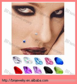 Magnetic Fake Nose Ear Monroe Studs Body Piercing Jewelry Rings
