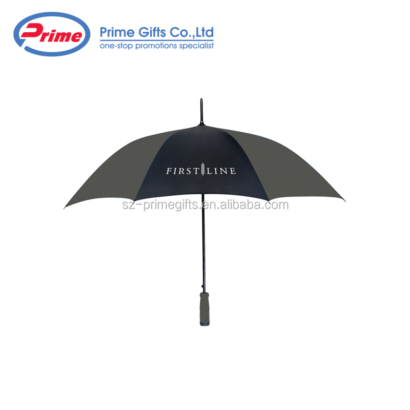 Customized Logo Auto Open Straight Outdoor Golf Umbrella for Promotional