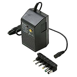 Universal Power Supply Adapter 300 mA AC/DC with 6 Detachable Plugs Converter Volt UL Transformer 110 VAC 50-60 Hz Adapter with Switchable Voltage Outputs 1.5, 3, 4.5, 6, 7.5, 9, 12 VDC