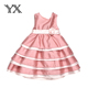 Sleeveless Birthday Party Princess Flower Dress/2017 baby girl party dress children frocks designs