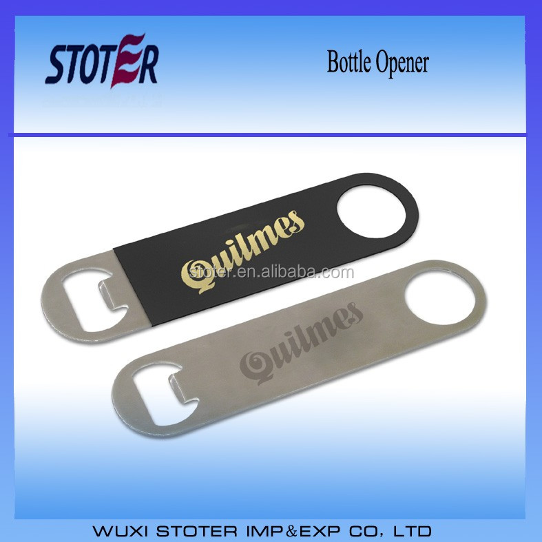 promotional stainless steel bottle opener with pvc sleeve