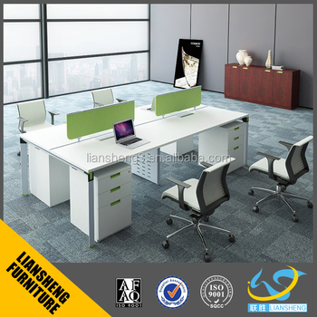 Open Workstation For Small Office Modern Office Workstation For 4