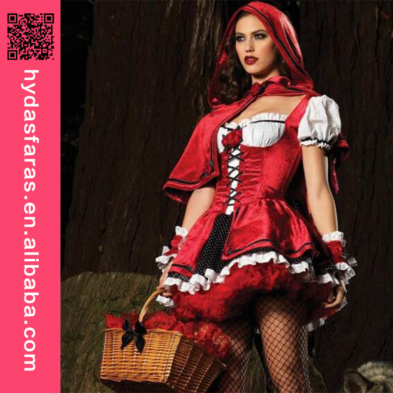 New Arrival Fantasy Halloween Costume Cosplay Supplier Wholesale Little Red Riding Hood Game Uniforms Fancy Dress