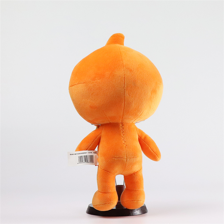 Corporate image orange kids toy custom plush doll